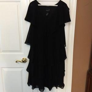 Black tiered Cocktail Dress.            NWOT